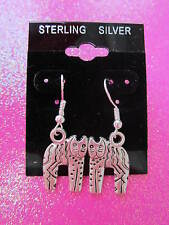 925 STERLING SILVER SCARY CAT EARRINGS