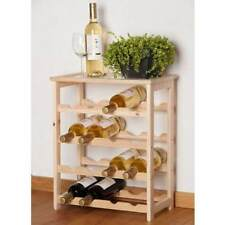 Wine Wooden Bottle Rack Cabinet Shelving 16 Bottle Storage Home Bar Organiser