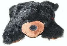 Black Grizzly Bear Beta Toys Red Bow Plush Stuffed Animal cabin lodge decor