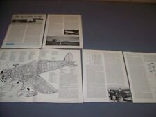 VINTAGE..MACCHI C.200 (SRS.XIX)..CUTAWAY/SPECS/DETAILS/3-VIEWS..RARE! (171F)