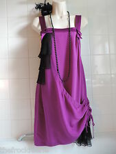 BELLE OASIS Vintage 1920's Purple Silk Charleston Gatsby Flapper Tunic Dress 8