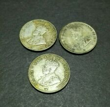 3PCS OF 1918 STRAITS SETTLEMENTS KING GEORGE V 10 CENTS