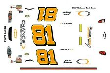 #81 Martin Truex Jr. Chance Dale Jr Motorsports 1/64th HO Scale Slot Car Decals