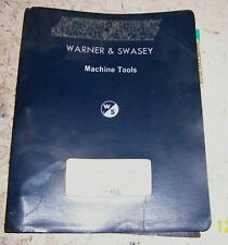 Warner Swasey #2 Electro-Cycle turret lathe service and parts manual & brochure