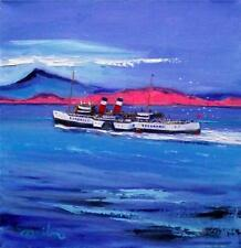 FRASER MILNE HEBRIDEAN COLOURIST IMPRESSIONIST OIL PAINTING : WAVERLEY AT IONA