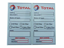 TOTAL Oil Change Service Reminder Stickers - 2x