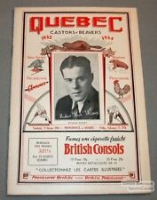 1933-34 Providence Red VS Quebec Beavers Program