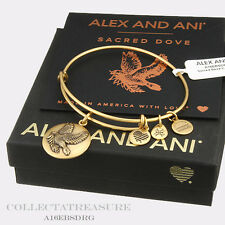 Authentic Alex and Ani Sacred Dove (II) Rafaelian Gold Bangle