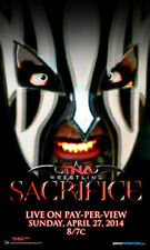 "Official TNA Impact Wrestling Sacrifice 2014 11x17"" Advertising Bill Poster"
