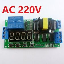 AC 220V Cycle Time Timer Switch Delay Relay ON OFF Repeat 0.1-9999s adjustable