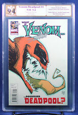 WHAT IF VENOM POSSESSED DEADPOOL? (Marvel) PGX (not CGC) 9.4 NM sig STAN LEE HTF