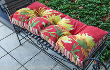 "OUTDOOR CUSHIONS - FLORIBUNDA GARDEN BENCH CUSHION - 42"" X 17""  - SEAT CUSHION"