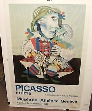 "PICASSO ""INTIME"" LARGE COLOR POSTER"