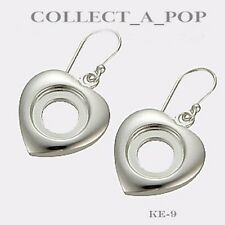 Authentic Kameleon Sterling Silver Heart Earrings KE009
