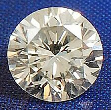 Round 9 mm Fancy 3.10 ct VVS Natural White Sapphire Brilliant Diamond Solitaire