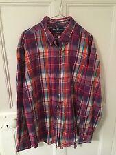 Mens Vintage Ralph Lauren Shirt Check XL X-Large