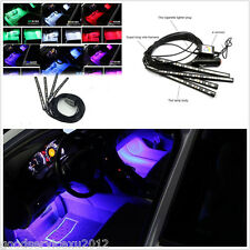 4In1 RGB Multi Color 12LED Car Footwell Decor Atmosphere Lights APP Control Kit