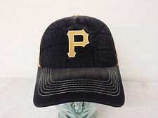 Pittsburgh Pirates Pre-washed Black & Yellow Color Men's Snap Back Curve Hat