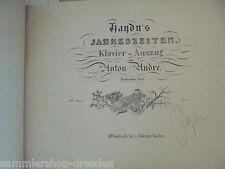 19344 Josef Haydn stagioni lito pianoforte estratto no 1640 Anton ANDRE per 1825