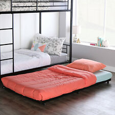 Black Metal Twin Bed Roll-Out Trundle Frame Trundle Bed