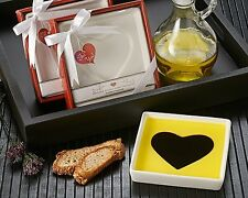 """Love Infused"" Olive Oil and Balsamic Vinegar Dipping Plate Wedding Valentine's"