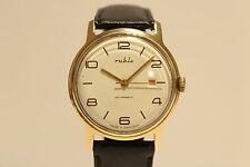 """VINTAGE CLASSIC BRASS  MEN'S GERMANY MECHANICAL HAND WIND UP WATCH""""RUHLA"""""""
