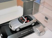 Mercedes SLK 230 (Typ R 170 1996) silber argentin silver met, Herpa 1:43 BOXED!