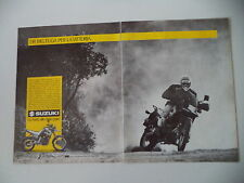 advertising Pubblicità 1989 MOTO SUZUKI DR 750 BIG