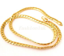 fashion1uk Smooth Chain Necklace 50cm 19.5 inches 18K Yellow Gold Plated