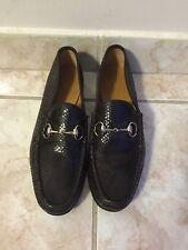 Men Gucci Shoes Horsebit Python Loafers Size 8 *authentic*