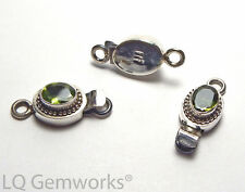 PERIDOT 925 Sterling Silver 24mm Faceted Box Clasp /P8