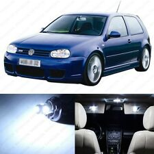 11 x Xenon White LED Interior Light Package For 1999 - 2005 VW Golf GTi R32 Mk4