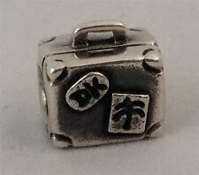 Authentic Rare Retired Danish Pandora Silver Suitcase Charm 790362
