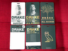 DRAKE OVO WOULD YOU LIKE A TOUR VIP PASS LAMINATE ALL ACCESS BACKSTAGE 2013 RARE