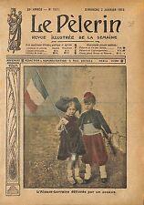Style Belle Epoque Alsace Lorraine Jeune Zouave France WWI 1915 ILLUSTRATION