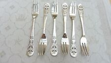 Boxed set of six vintage Swedish silver plated cake forks by GAB