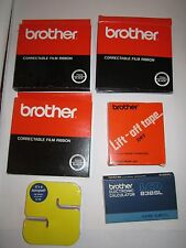 LARGE LOT OF BROTHER SUPPLIES & OTHER DESK SUPPLIES -ALL NEW OLD STOCK -SEE PICS