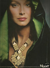 "70's Monet Jewellery ""Pas d'Or Collection Advertisement  - Karen Graham 1973"