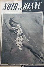 PIN UP en COUVERTURE de NOIR et BLANC No 69 de 1946 SORCIER D AFRIQUE NOIRE