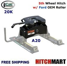 20K CURT 5TH WHEEL TRAILER HITCH & OEM ROLLER FOR FORD w/ TOW PREP 16020-16540