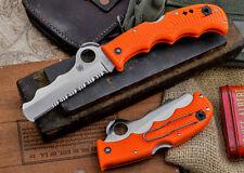 Spyderco Assist Rescue Knife w/Carbide Glass Breaker 3.7 Blade Orange FRN Handle
