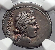 Roman Republic 75BC Rome LIBERTY VENUS CUPID Ancient Silver Coin NGC ChVF i60165