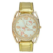Reloj HELLO KITTY watch dorado brillantes Precioso. A1172