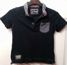 "BOYS NAVY& GREY SHORT SLEEVED T-SHIRT.""AGE 3"" FROM""NEXT""POLO STYLE."