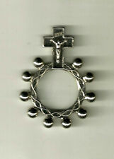 One Decade Rosary Ring from Italy Made of Oxidized Metal