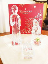 Waterford Crystal HOLY FAMILY Nativity Set 3 Joseph Mary Baby Jesus - NEW / BOX!