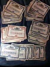"""100 USED STOCK CERTIFICATES """"""""THE CUBA COMPANY ( RAILROAD & SUGAR ) 1920s  #s11"""
