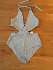 Wolf & Whistle @ ASOS Lace Cross Wrap Swimsuit Sz 14B/C Bnwt