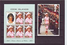 COOK ISL - SG1426-MS1427  MNH 1998 COMMEMORATION PRINCESS