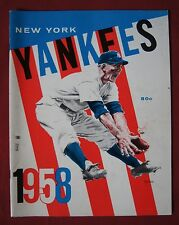1958 NEW YORK YANKEES YEARBOOK - Mickey Mantle, Berra Ford… - NCC